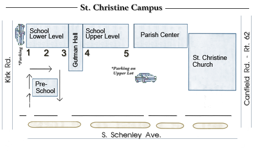 St. Christine Campus Map